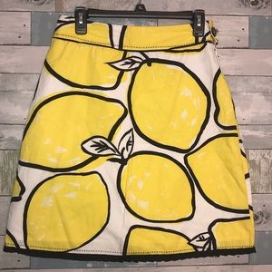Odille by Anthropologie lemons skirt size 4